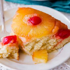 Pineapple Upside-Down Cake @keyingredient #delicious #pie #cake