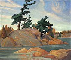 Island Georgian Bay - Franklin Carmichael, Group of Seven. Tom Thomson, Emily Carr, Group Of Seven Artists, Group Of Seven Paintings, Canadian Painters, Canadian Artists, Landscape Art, Landscape Paintings, Franklin Carmichael