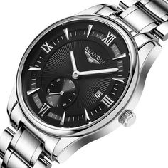 Stainless Steel Quartz Waterproof Wristwatch (Various Colors Available)