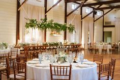 An elegant seated dinner set-up in the Granary at Pippin Hill Farm and Vineyards. Barn Wedding Venue, Farm Wedding, Virginia Wineries, Summer Weddings, Dinner Sets, Rustic Charm, Wine Country, Backdrops, Table Decorations