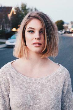 Blunt bob with blonde ombré