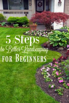 Have you ever wanted a perfectly manicured yard? Learn how to landscape your yard with these landscaping tips for beginners! #landscaping #landscapingtips #gardening #gardenonabudget #frugal