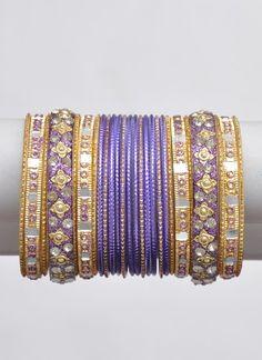 Purple Bangle Set
