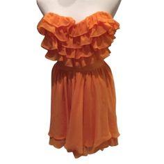 ⚡️LAST CHANCE⚡️Arden B. Ruffled Party Dress Chiffon, flowy dress- Arden B Dresses Strapless