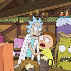 Rick going off on someone while Morty tries to calm his babe down. Cartoon Tv Shows, Cartoon Icons, Cartoon Characters, Rick And Morty Image, Ricky Y Morty, Rick And Morty Poster, Justin Roiland, Cute Cartoon Wallpapers, Disney Art