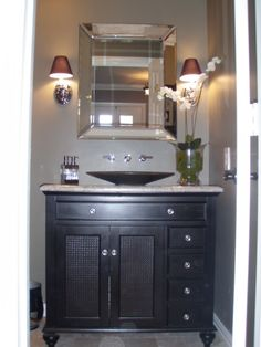 Powder Room , My eclectic style has passed to my powder room. Small but just the way I like it., Bathrooms Design