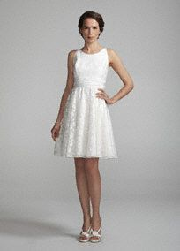 Halter Short Gown with Ruched Waist (http://www.davidsbridal.com/Product_Halter-Short-Gown-with-Ruched-Waist-875216_Bridal-Gowns-Features-Bridal-Gowns-Under-$600)