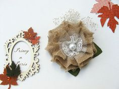 Rustic Beauty RTS flower clip and headband by PrincynParis on Etsy, $22.00