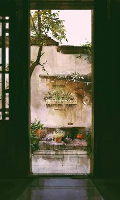 Doorway to light and nature Antique Illustration, Illustration Art, Illustrations, Art Asiatique, China Art, Animation Background, Environment Concept Art, Anime Scenery, Environmental Art