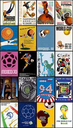 Cartazes das Copas do Mundo para enquadrar. Moldura branca simples, com margem de 2cm da arte para a moldura.