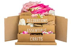 great party idea - party boxes with decorations/favors/etc