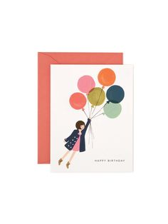 Rifle Paper Co balloon birthday card