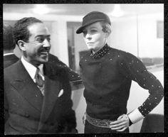 Langston Hughes & Nancy Cunard, Paris, 1938, Beinecke Digital Collection