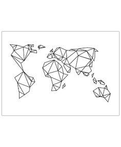 Geometrische Erde VON Eulenschnitt now on JUNIQE!