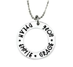 NOTE ---> THE BACK OF THIS ITEM CANNOT BE STAMPED    THE BLACK LETTERING ON MY ALUMINUM PIECES IS PERMANENT AND WILL NOT FADE.    HAND STAMPED