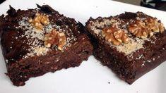 Weer eens wat anders; brownies van zwarte bonen. Of het lekker is? HEER-LIJK!