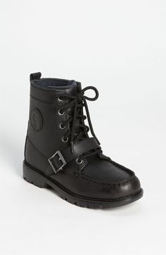 Polo Ralph Lauren Leather Boot (Toddler, Little Kid & Big Kid) available at #Nordstrom