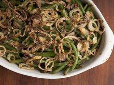 Not Your Mama's Green Bean Casserole recipe from Alton Brown via Food Network
