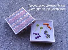 EyeLoveKnots: DIY Decoupaged Jewelry Boxes - Halloween Themed