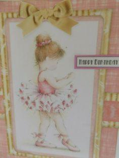 Ballerina Birthday Card - Little Girls Card - Handmade- UK Products Ballerina Tutu, Ballerina Birthday, Girl Birthday Cards, Coffee Colour, White Envelopes, Little Girls, Colours, Children, Pink