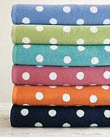Garnet Hill Dot to Dot Towels #dots