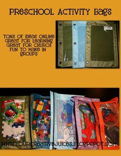 Creative Juices: Preschool Activity Bags