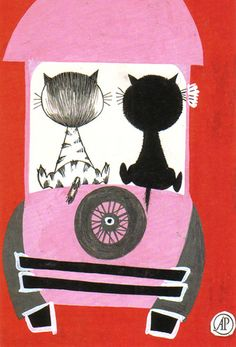 """From the book """"De Pim-en-Pomnibus"""" by Mies Bouhuys, illustrated by Fiep Westendorp; Amsterdam: De Arbeiderspers, 1969"""