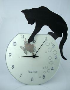BLACK CAT TABLE CLOCK