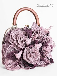 """Eco Boho handmade Bag """"Elizabeth"""" (crocheted eco-friendly boho-chic bags buy) Best Picture For crochet crafts For Your Taste You are looking for something, and it. Crochet Handbags, Crochet Purses, Crochet Bags, Crochet Flowers, Crochet Braid Styles, Summer Handbags, Frame Purse, Stylish Handbags, Boho Bags"""