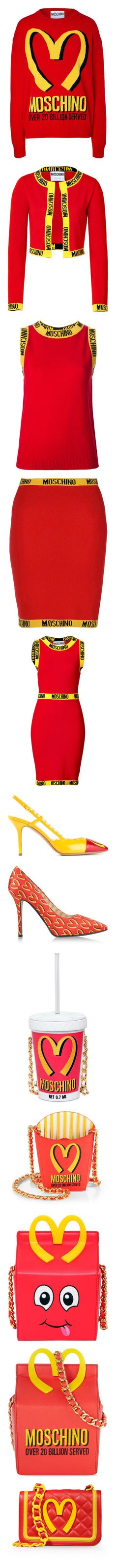"""""""Moschino"""" by livnd ❤ liked on Polyvore featuring fun, Moschino, collection, fallwinter2014, tops, sweaters, moschino, long sleeves, red and sweater pullover"""