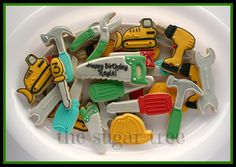 Construction party cookies
