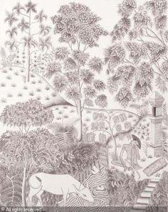 a cowherd asleep by anak agung gede Meregeg