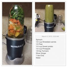 Sweet potato, pear and spinach smoothie