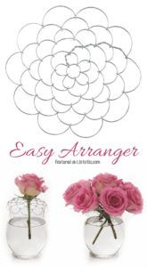 Comes in 3 different sizes to fit any of your vases! -- 13 Clever Flower Arrangement Tips & Tricks