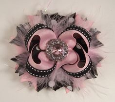 Black and Pink Bow Polka Dot and Gingham Stacked by darlindivas, $7.99