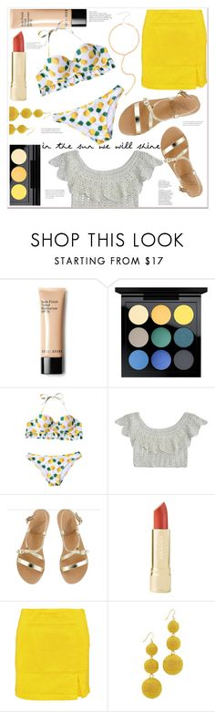 """""""in the sun we will shine"""" by mycherryblossom on Polyvore featuring MAC Cosmetics, Ancient Greek Sandals, Marc by Marc Jacobs and Kenneth Jay Lane"""