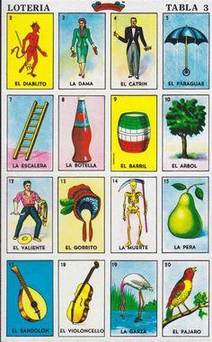 Loteria Mexicana Cartas Para Imprimir Printable Planner Pages, Printable Cards, Printables, Loteria Cards, Loteria Shirts, Fortune Telling Cards, Mexico Art, Collage Template, Christmas Party Games