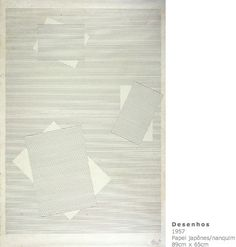 Projeto Lygia Pape   Obras   Anos 50  Desenhos 1957 Papel japonês/ nanquim 89cm x 65cm