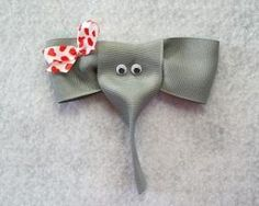 How to make Hair Bows - Free Hair Bow Tutorials  Made the elephant for a friend and she loved it! So cute! by gloriaolave