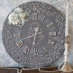 1 million+ Stunning Free Images to Use Anywhere Clock Art, Diy Clock, Clock Decor, Plaster Crafts, Cold Porcelain Flowers, Free To Use Images, Vintage Sewing, Home Art, Decoupage