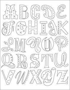 Sublime stitching alphabet and website with other patterns