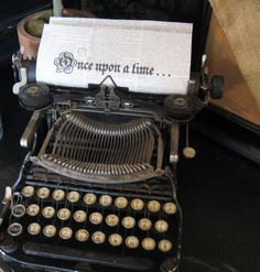 vintage typewriter- even better idea for paper in the typewriter