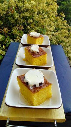 Greek Sweets, Greek Desserts, Greek Recipes, Syrup Cake, Sweets Cake, Dessert Recipes, Food And Drink, Favorite Recipes, Cooking