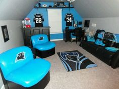 a38859fad Awesome Football Bedroom, Football Rooms, Football Team, Panther Football,  Carolina Pride,
