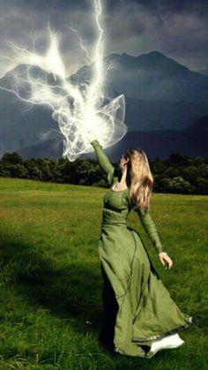 Aurora's Lightning powers!