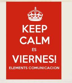 ¡Por fin es viernes! el equipo de #elementscomunicación os desea feliz fin de semana ;-)