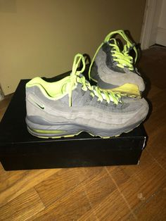 ac18b9e39f boys nike airmax grey and lime green. #fashion #clothing #shoes #accessories