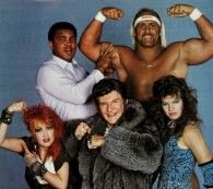 UNLIKELY BEDFELLOWS (using that term loosely). Retronaut - Muhammad Ali, Hulk Hogan, Cyndi Lauper, Liberace and Wendi Richter