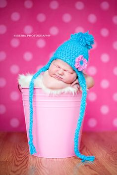 Love pink and bright blue! Adorable photo