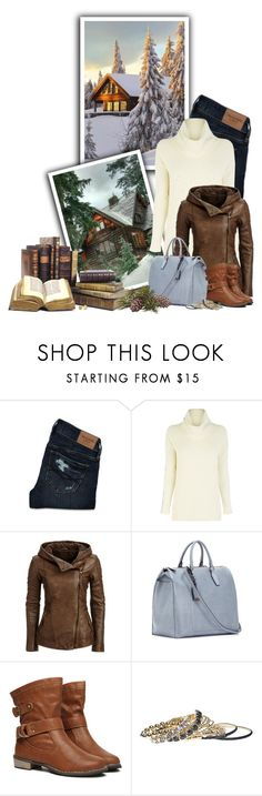 """Cabin In The Woods"" by ameve ❤ liked on Polyvore featuring mode, Abercrombie & Fitch, Oasis, Jil Sander, WithChic, Wet Seal en Marco Bicego"
